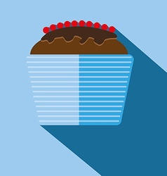 Candy card with a big chocolate cream cake vector image vector image