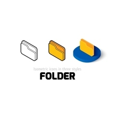 Folder icon in different style vector image vector image