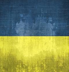 Grunge Flag Of Ukraine vector image vector image