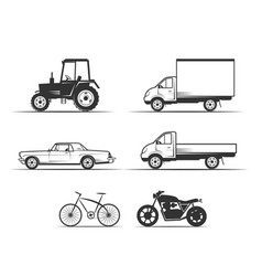 icon set vehicles vector image