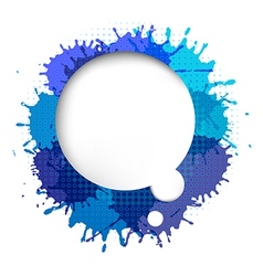 Speech Bubble With Blue Blob vector image