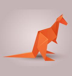 A paper origami kangaroo paper vector