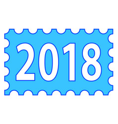 abstract 2018 stamp lettering vector image