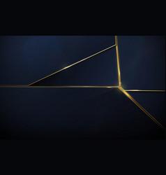 abstract polygonal pattern luxury dark blue vector image
