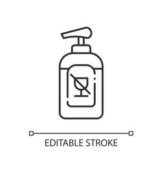 Alcohol free sanitizer linear icon vector