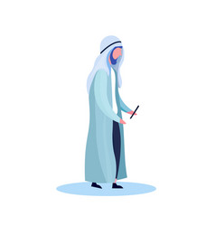 Arab man profile isolated using smartphone male vector