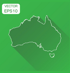Australia linear map icon business cartography vector