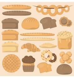 Bakery or pastry product types vector image