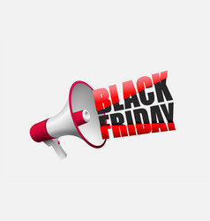 black friday announcement poster design vector image