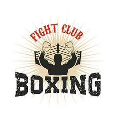 Boxing Fight club vector image