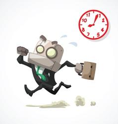 Businessman rush hour vector