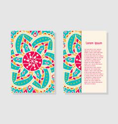 Card templates with mandala vector