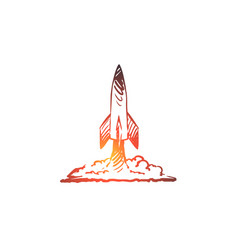 Career rocket business success flying concept vector