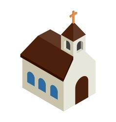 Catholic church isometric 3d icon vector