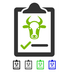 Cattle contract flat icon vector