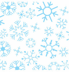 chrismtas snowflakes pattern vector image