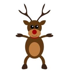 Christmas deer character flat design vector
