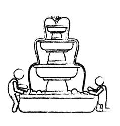 Classical fountain icon image vector