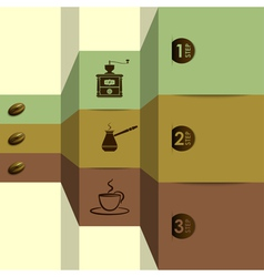 coffee options vector image