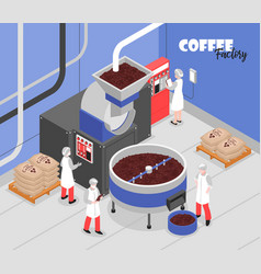 Coffee production vector