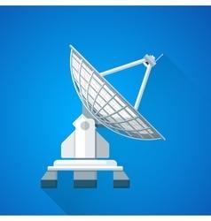 Color satellite uplink dish antenna vector