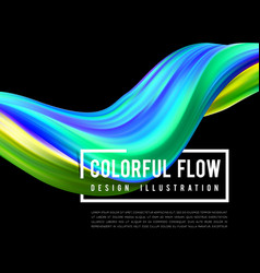 colorful flow design trending wave liquid vector image