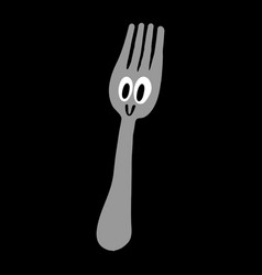 Dining fork vector