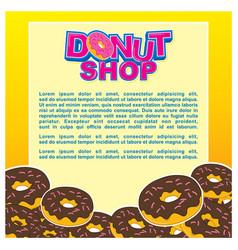 Donut shop background template design vector