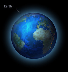 Earth realistic planet is isolated on the cosmic vector