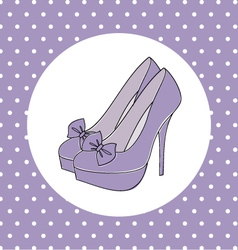 elegant high heels vector image