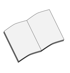 exercise book simple black symbol on white vector image