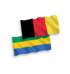 Flags belgium and gabon on a white background vector