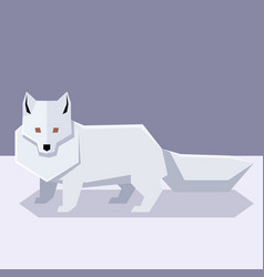Flat design polar fox vector