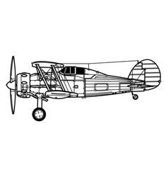 Gloster gladiator vector