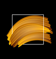 gold paint streaks background vector image