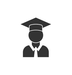 graduation icon design template isolated vector image