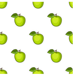 green apple with leafproper diet for diabetes vector image