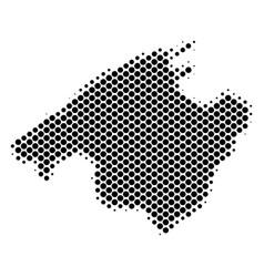 Halftone dot spain mallorca island map vector