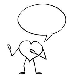 heart love symbol cartoon character vector image