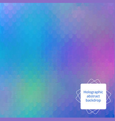 holographic editable design vector image