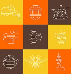 Honey Label vector