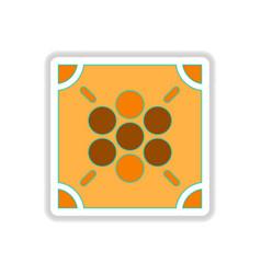 In paper sticker style ludo vector