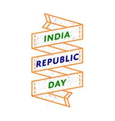 India republic day greeting emblem vector