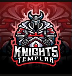 Knights templar esport mascot logo vector