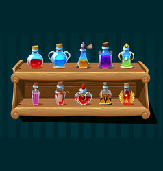 Magic potion background vector