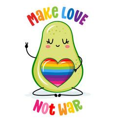 Make love not war - lgbt pride slogan against homo vector