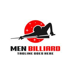 Mens billiards sport modern logo vector