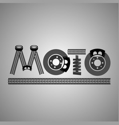 Moto lettering image vector