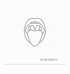 mouth icon isolated vector image