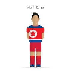 North korea football player soccer uniform vector
